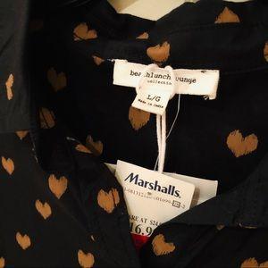 beachlunchlounge Tops - Heart Button Down Shirt
